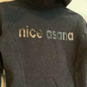 "Lukulemon scuba hoodie ""nice asana"" jacket"